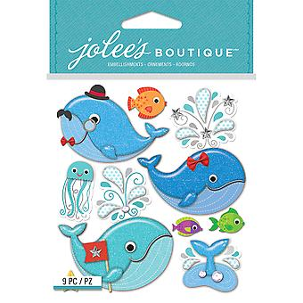 Jolee's Boutique Dimensional Stickers-Cutesy Whales E5021938