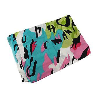 Spritzer von Frühjahr Farben Acryl Leopard Print Schal 70 in. 26 in.