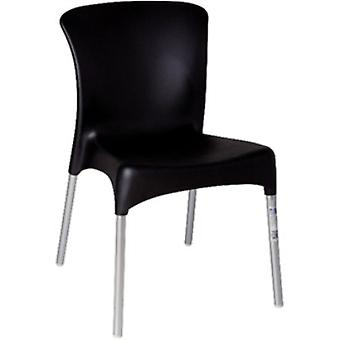 Vera Stackable Black Chair / Pack Of 4