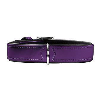 Collar de cuero Nubuck ajustables Hunter Pilot 55 violeta 42-50cm