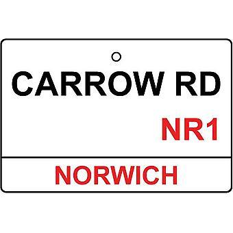 Norwich / rua Carrow Rd sinal refrogerador de ar do carro