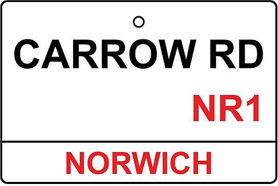 Norwich / Carrow Rd Street Sign auto luchtverfrisser