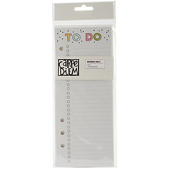 Carpe Diem Home Double-Sided Bookmark Tablet A5-Punched To Do W/24 Sheets CDH8918
