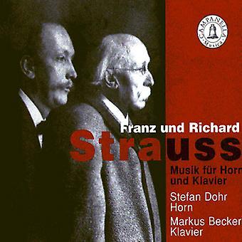 Strauss/Strauss - Franz Und Richard Strauss: Musik F R Horn Und Klavier [CD] USA import