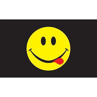 5ft x 3ft Flag - Acid Smiley