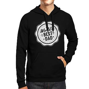World's Best Dad Unisex Black Hoodie Cute Christmas Gifts For Dad