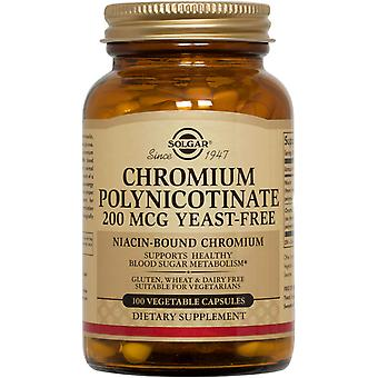 Solgar Chromium Polynicotinate 200 mcg Vegetable Capsules 100ct