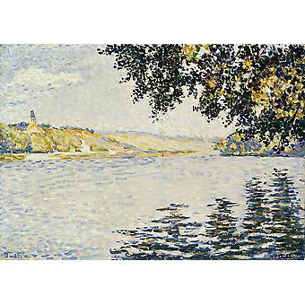 Paul Signac - View of the Seine at Herblay Poster Print Giclee