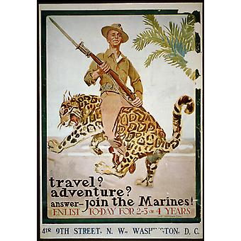 Travel Adventure Join The Marines Poster Print Giclee