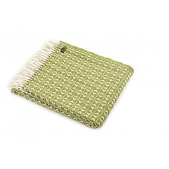 Tweedmill Pure New Wool Cobweave Throw - Cosy Green