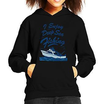 I Enjoy Deep Sea Fishing Kid's Hooded Sweatshirt