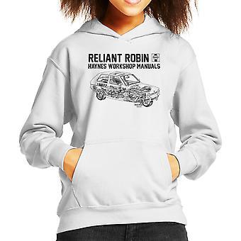 Haynes Workshop Manual Reliant Robin Black Kid's Hooded Sweatshirt