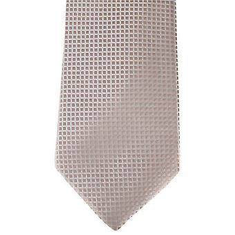 David Van Hagen Ribbed Squares Pin Dot Tie - Gold