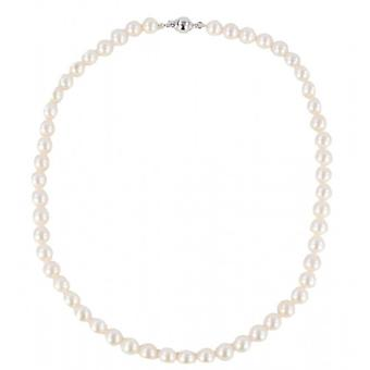 Pearl Aurora Small Ice Drop Freshwater Pearl Necklace - White/Cream