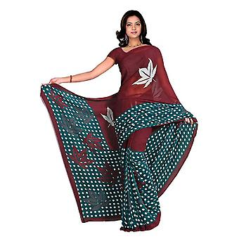 Chakori Georgette gedruckt Casual Sari Sari Bauchtanz Stoff