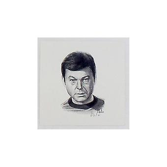 Robert Tomlin Star Trek Dr McCoy Portrait 12 X 12cm By Robert Tomlin