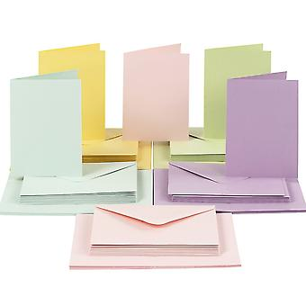 50 Pastel A6 Cards and Envelopes - Card Making Crafts   Card Making Blanks
