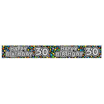 Expression Factory Happy 30th Birthday Polka Dot Foil Party Banner