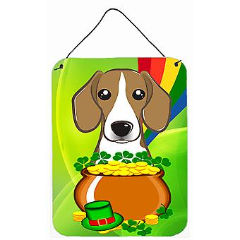 Beagle St. Patrick's Day Wall or Door Hanging Prints