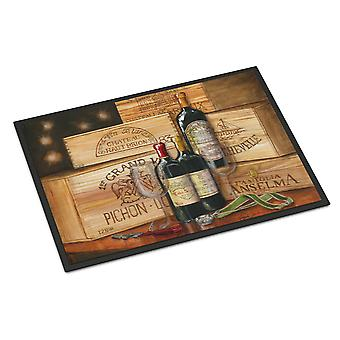 Wine Gran Vin by Malenda Trick Indoor or Outdoor Mat 24x36