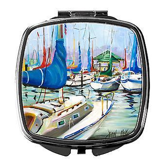 Carolines Treasures  JMK1241SCM Day break Sailboats Compact Mirror