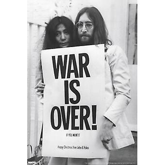 Джон Леннон & Йоко Ono война закончилась печать плаката (24 x 36)