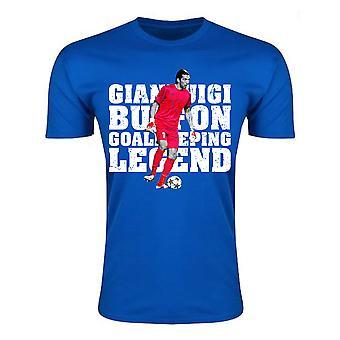 Gianluigi Buffon Torwart Legende T-Shirt (blau) - Kinder