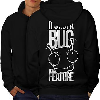 Not A Bug Geek Men BlackHoodie Back | Wellcoda