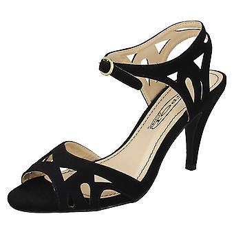 Ladies Spot On High Heel Strappy Sandals