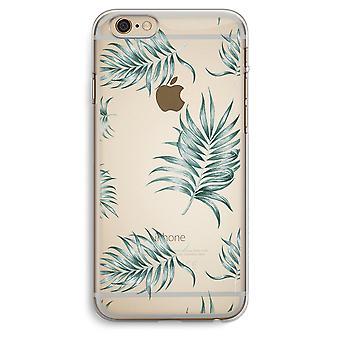 iPhone 6 Plus / 6S Plus Transparent fodral (Soft) - enkel lämnar
