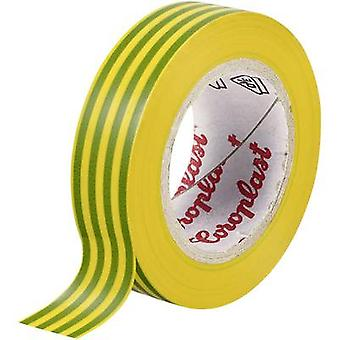 Electrical tape Coroplast Green-yellow (L x W) 10 m x 19 mm