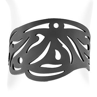 Silikon svart effekt tatuering Tribal armband