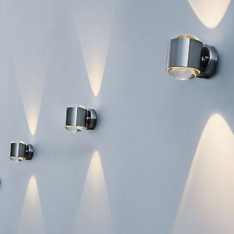 Lutec Crystal 10W Exterior LED Up And Down Wall Light In Stainless Steel