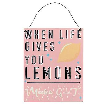 Something Different Lemons Wall Plaque