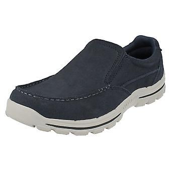 Mens Skechers Trainer/Loafer Casual Shoes Braver Navid