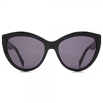 Alexander McQueen Piercing Detail Cateye Sunglasses In Black
