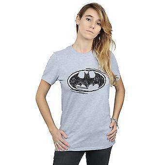 DC Comics Batman Skizze Logo Freund Fit Frauenunterhemde