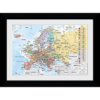 European Map 2017 Collector Print