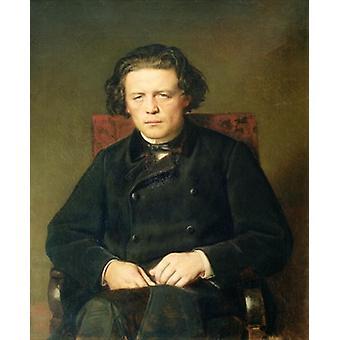 Portrait d'Anton Rubinstein (1829-1894) 1870 .. - Reproduction d'art