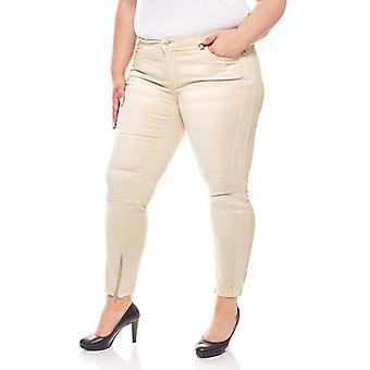 Stretch jeans with side insert plus size beige B.C.. best connections