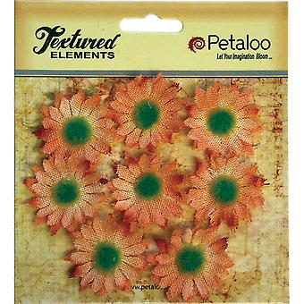 Textured Elements Mini Burlap/Canvas Daisies 1.25