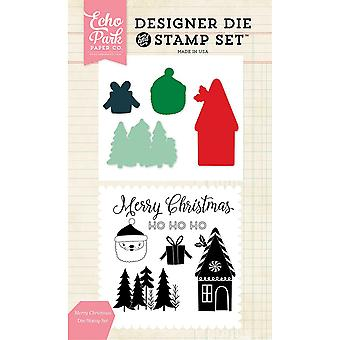 Echo Park Die & Stamp Combo Set-Merry Christmas