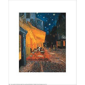 The Cafe Terrace on the Place du Forum Arles at Night c1888 Poster Print by Vincent Van Gogh (16 x 20)