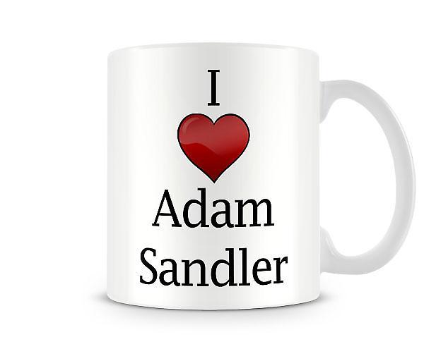 Me encanta Adam Sandler taza impresa