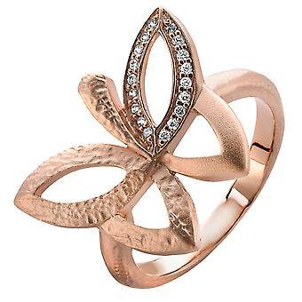 Rosa de Orphelia plata 925 anillo circonio ZR-3948/1