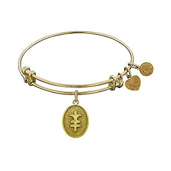 Stipple Finish Brass Strength And Bravery Angelica Bangle Bracelet, 7.25