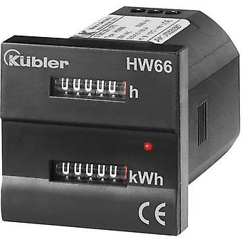 Kübler HW66 230 VAC Electricity meter (AC) Mechanical 16 A MID-approved: No
