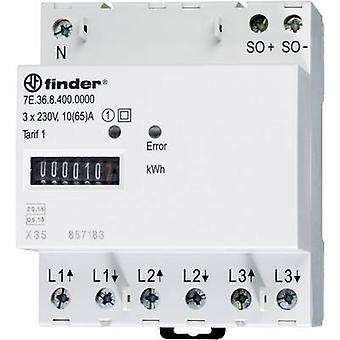 Finder 7E.36.8.400.0010 Electricity meter (3-phase) Mechanical 65 A MID-approved: Yes