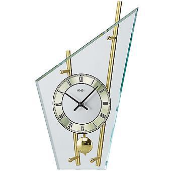 Настольные часы с маятником кварца латуни окрашенные металлические стержни минеральное стекло