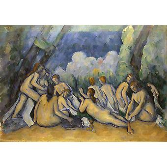 The Large Bathers, Paul Cezanne, 40x60cm with tray